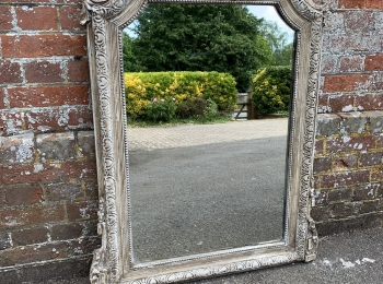 Antique French Mirrors, Large Antique Ornate Mirror, French Floor Standing Mirror, French Louis Mirror: Cleall Antiques, West Sussex, UK