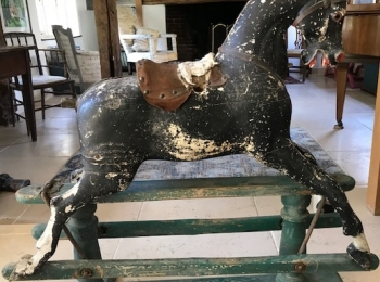 Antique Rocking Horse, Bow, Folk Art Rocking Horse, 19th Century Rocking Horse at Antiquated Antiques, Petworth, Sussex, UK